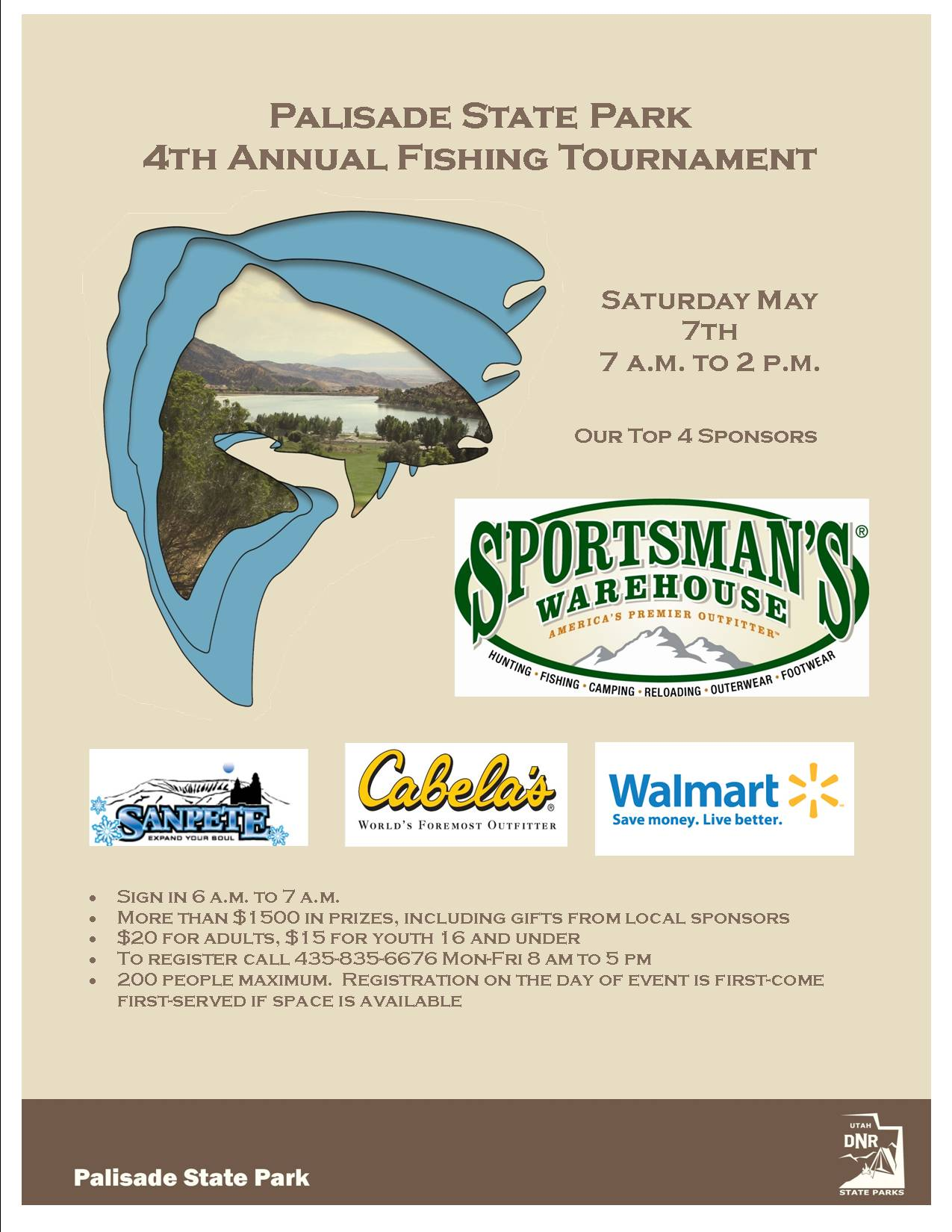 2016 Fishing Tournament Flyer 2
